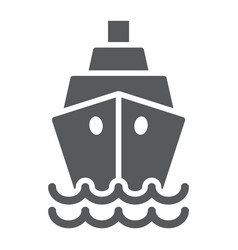 ship glyph icon cruise and sail boat sign vector image