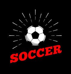 soccer football sport ball logo icon sun burtst vector image