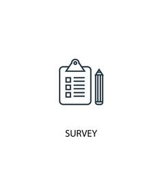 survey concept line icon simple element vector image