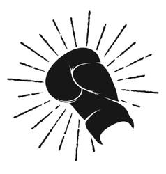 Symbol boxing glove vector