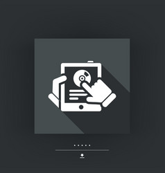 tablet application icon vector image
