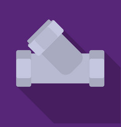 tee plumbing fitting icon in flate style isolated vector image