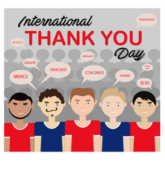 Thank you day vector