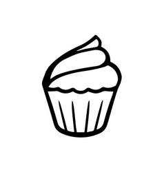thin line cupcake icon vector image