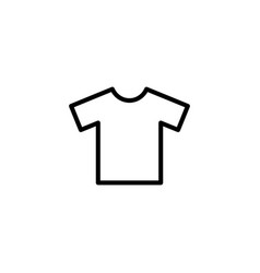 Thin line t-shirt icon vector