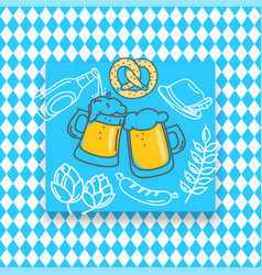 traditional bavarian banner doodle banner vector image
