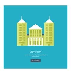University building icon vector
