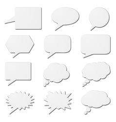 White speech bubble cards vector image