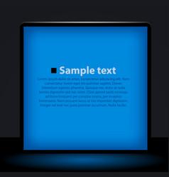 blue light box vector image