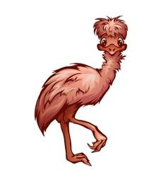 cartoon cute emu vector image