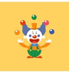 Happy Clown Juggling vector image