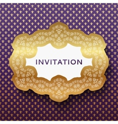 Invitation card Vintage background with place for vector image vector image
