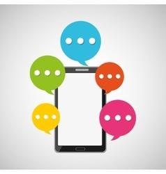 mobile smartphone bubble speech icon vector image vector image