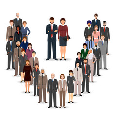 office employee team standing together group of vector image vector image