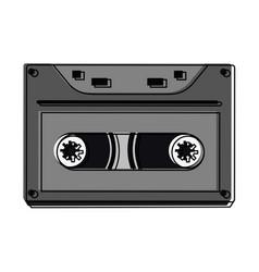 old cassette media vector image