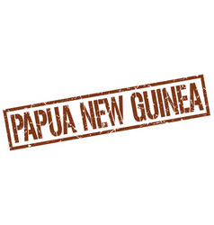 papua new guinea brown square stamp vector image