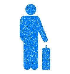 Passenger baggage grainy texture icon vector