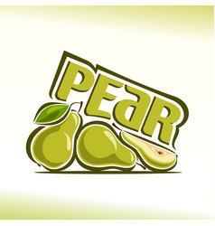 pear still life vector image vector image