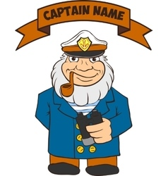 Captain Seas Template vector image vector image