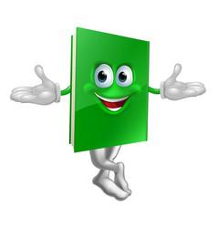 cartoon book mascot vector image
