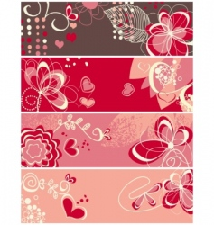 cute love banners vector image