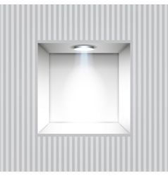 Empty niche in the wall vector image