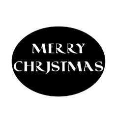 Label with christmas lettering in old style vector