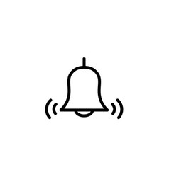 thin line bell icon vector image