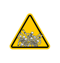 warning sign of attention sinners dangers yellow vector image vector image