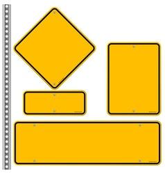 Yellow Roadsigns Set vector image
