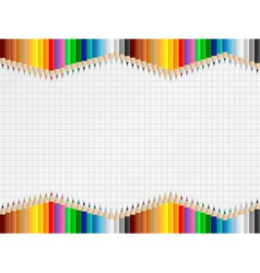 Education Background with Colored Pencils vector image vector image