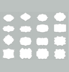 set blank retro labels scalable and editable vector image vector image