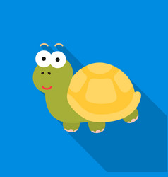 turtle flat icon for web and mobile vector image