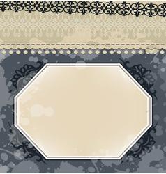 Vintage frame on blot background vector image