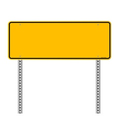 Blank Warning Sign vector image vector image
