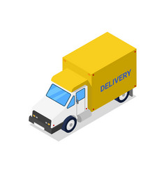 container truck isometric 3d icon vector image vector image