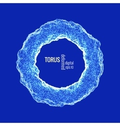 deformed torus vector image