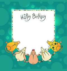 Greeting children card with wishes for a vector