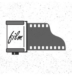 photographic film cassette icon vector image vector image