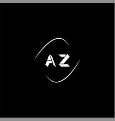 A z letter logo creative design on black color vector