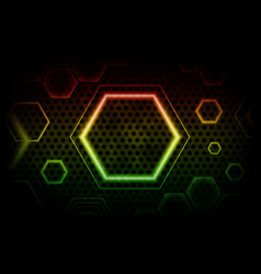 abstract background with colorful hexagon vector image