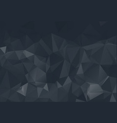 abstract black polygon surface pattern background vector image