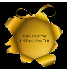 Abstract golden Xmas ball vector image