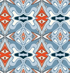 Abstract seamless ornament patternkaleidoscope vector image