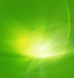 Abstract shiny green twist light lines waves vector
