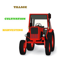 agricultural tractor 3d graphic for tillage vector image