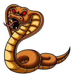 Angry cobra snake cartoon vector