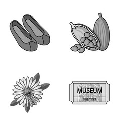 Art travel and other monochrome icon in cartoon vector