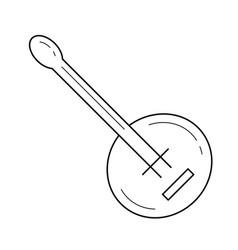 Banjo line icon vector