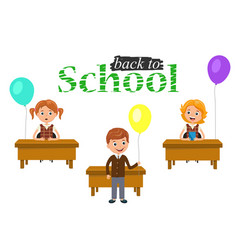 Banner or poster welcome back to school text vector